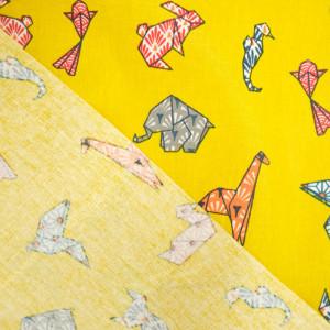 Coton Enduit cocotte jaune  - Mercerine
