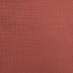 Triple gaze de coton terracotta - Mercerine