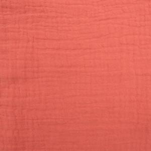 Triple gaze de coton corail  - Mercerine