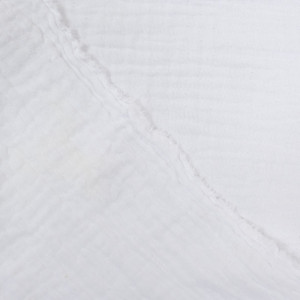 Triple gaze de coton blanc - Mercerine