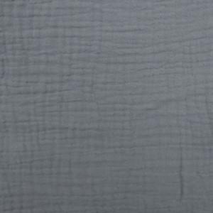 Triple gaze de coton gris  - Mercerine