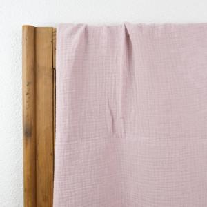 Triple gaze de coton rose  - Mercerine