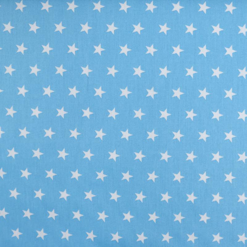 Tissu etoile bleu  - Popeline de coton - Mercerine