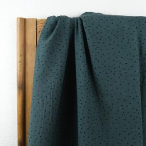 Tissu Viscose Pois vert eucalyptus x10cm - Mercerine