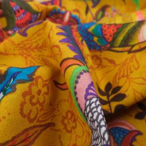 Tissu coton Cirsac moutarde