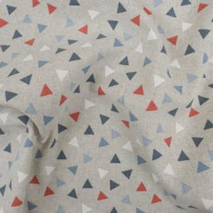 Coton épais triangles glacier effet lin   - Mercerine