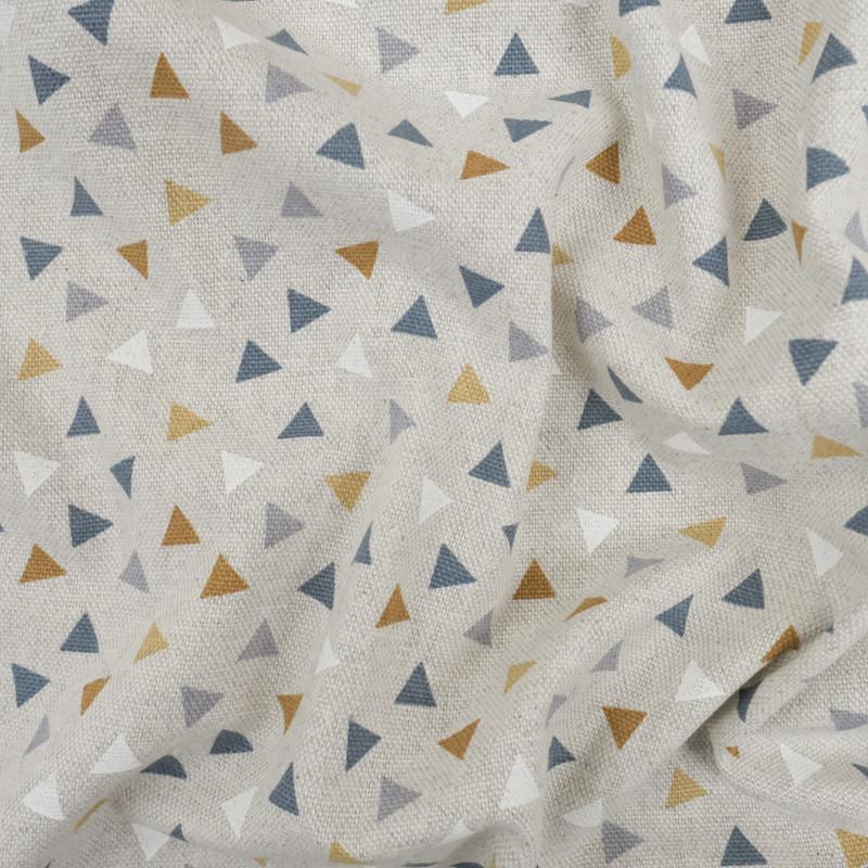Coton épais triangles ocre effet lin   - Mercerine
