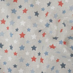 Laissez vous séduire par ce tissu pois bleu rouge  facile à utiliser. Tissu épais , facile à coudre, pas cher.  - Livraison rap