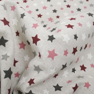 Laissez vous séduire par ce tissu triangle bordeaux  au beau motif imtemporel. Coton effet lin épais  , facile d'entretien, pas