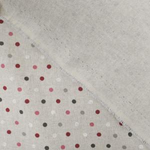 Coton épais pois bordeaux CONFETTI  effet lin   - Mercerine