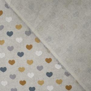 Coup de cœur pour ce tissu pois ocre  dans cet imprimé simple et moderne. Coton effet lin épais  , souple, pas cher et de quali