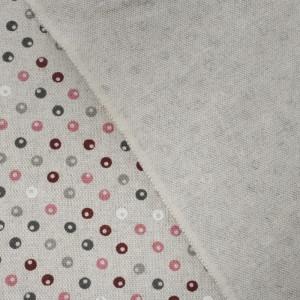 Coton épais bordeaux perles effet lin   - Mercerine