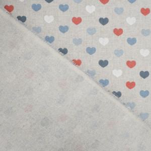 Coton épais coeur glacier VALENTINE effet lin   - Mercerine