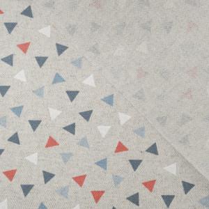 Toile enduite triangles glacier pyramide effet lin  - Mercerine