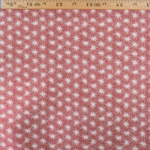 Coton imprimé Futon rouge