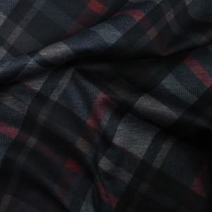 Tissu jersey épais milano Carreaux rouge