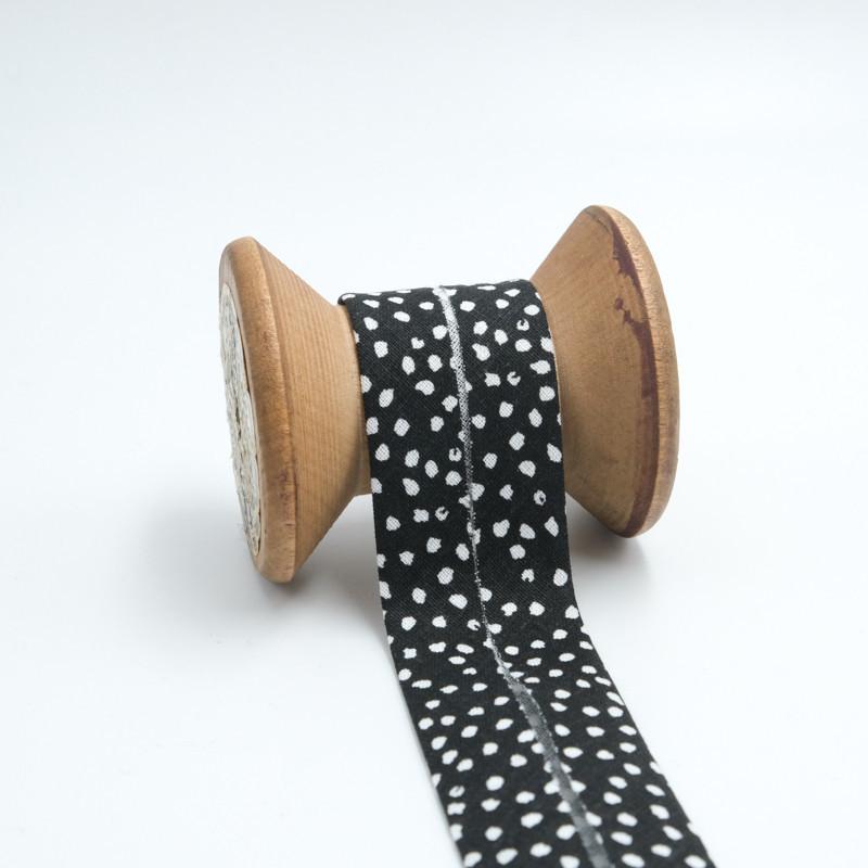 tissu mousseline de soie 100/% noir et blanc pois vente au metre