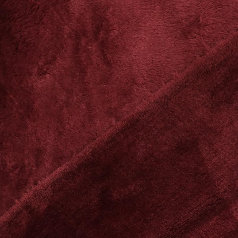 Tissu polaire bordeaux - doudou épais pour couverture - Mercerine
