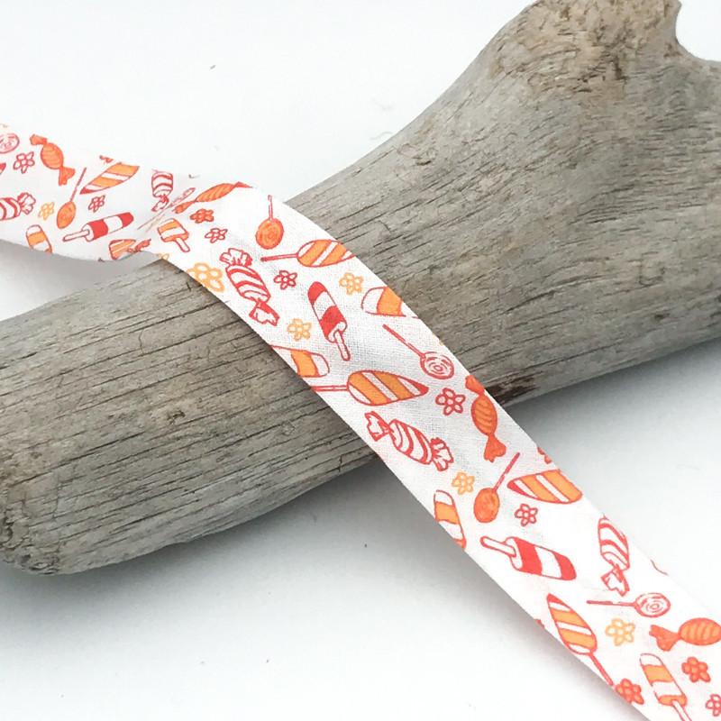 biais orange bonbons