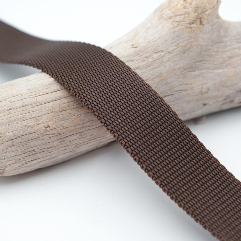 Sangle 3cm polypropylène brun cacao