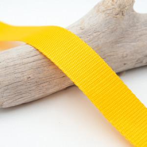 Sangle 3cm polypropylène jaune or