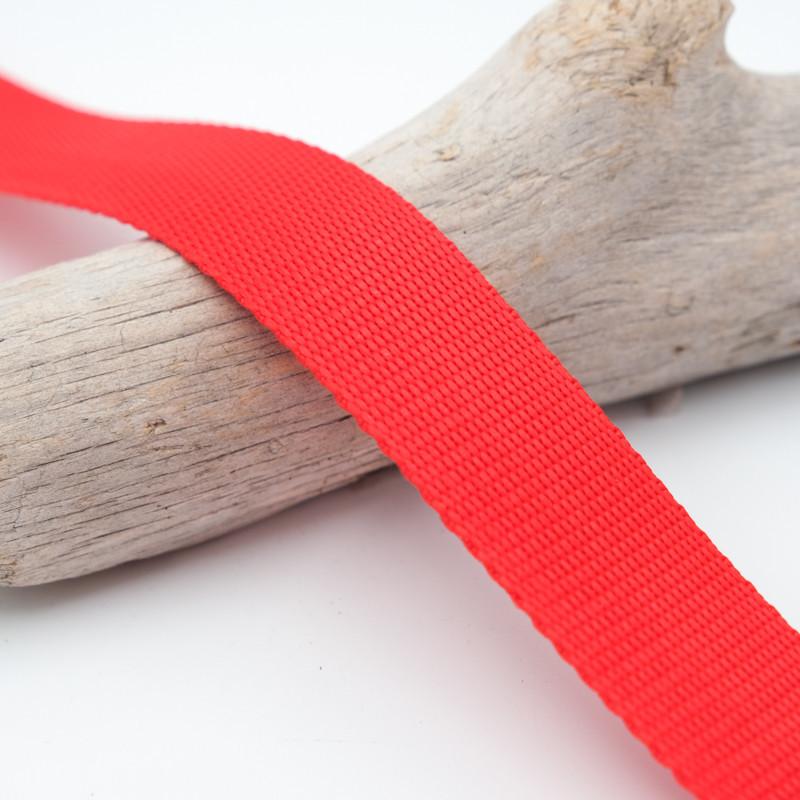 Sangle 3cm polypropylène rouge