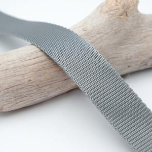Sangle 3cm polypropylène gris métal