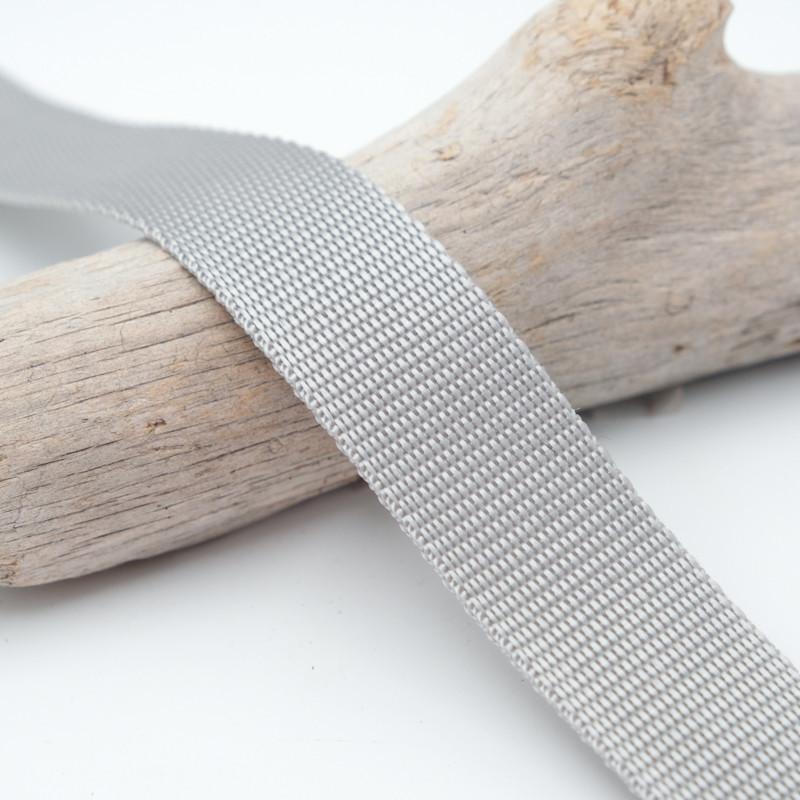 Sangle 3cm polypropylène gris clair