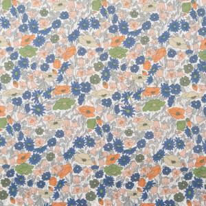 Tissu liberty bleu Poppy Forrest B - Mercerine