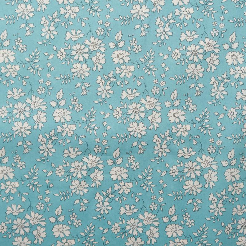 Coton Liberty Capel bleu vert N - Mercerine