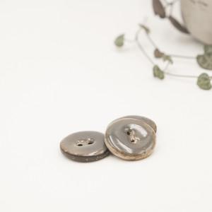 bouton noix de coco nacré gris