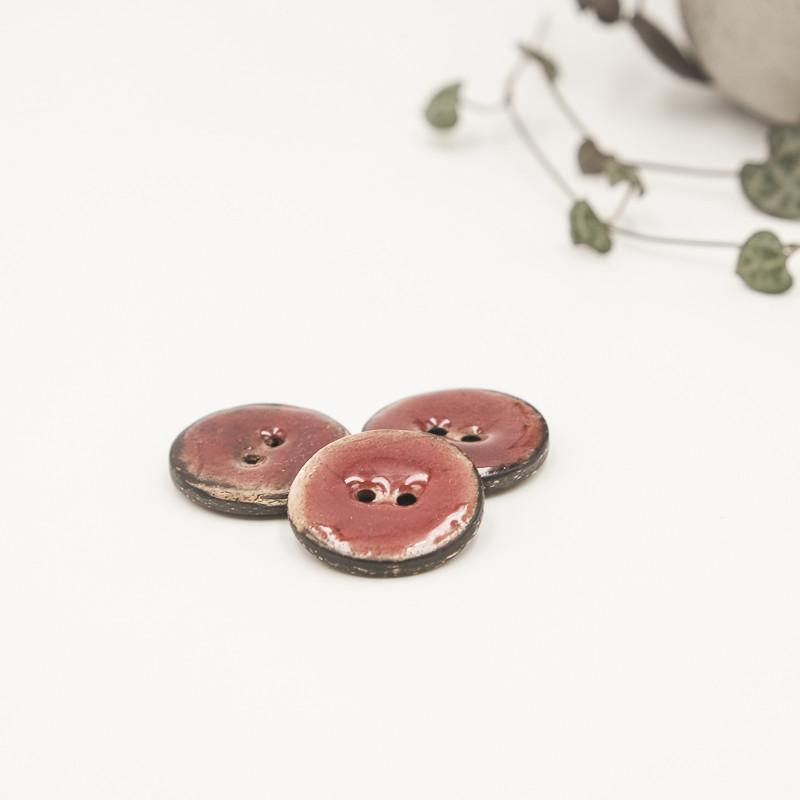 bouton noix de coco rouge feu