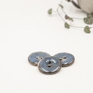 bouton noix de coco nacré bleu