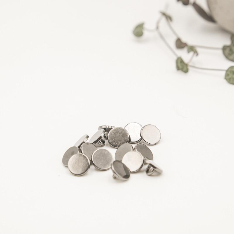 Bouton métal gris