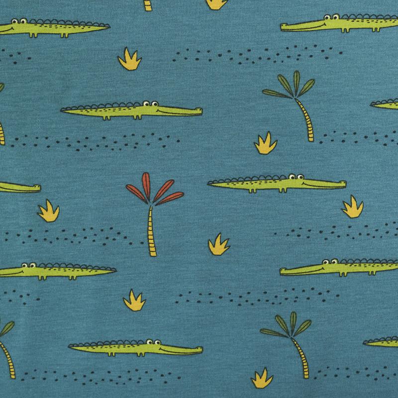 Jersey de coton Bio Paon Crocodiles