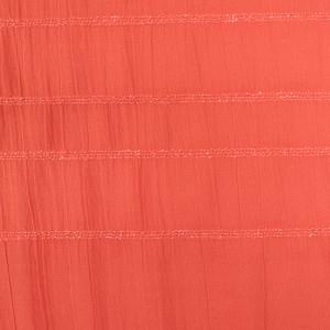 Gaze De Coton Elastiquée Plissé Smocks Orange brique