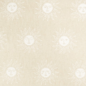 Coton épais Soleil Roi Blanc Imitation lin
