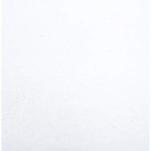 Coton brodé blanc Petits éléphants