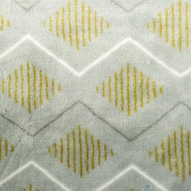 Polaire Double face grise motifs géométriques