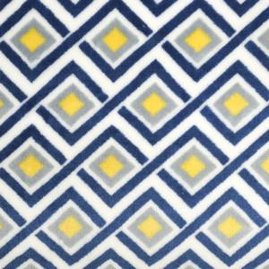 Polaire Double face Géométrie bleue