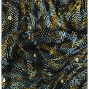 Tissu lurex Yoryo Foil Bleu noir