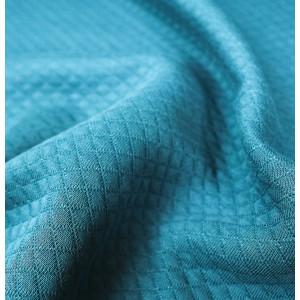 Jersey Matelasse Bleu Paon