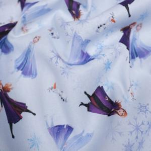 Tissu La Reine des neiges bleu