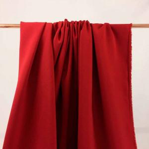 Tissu crêpe au mètre - Tissu rouge pour robe - Tombé du tissus en ligne