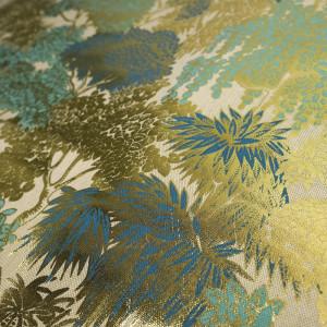 Toile de coton Panoramique  Bleu/Or