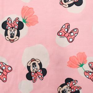 Jersey de coton Minnie rose