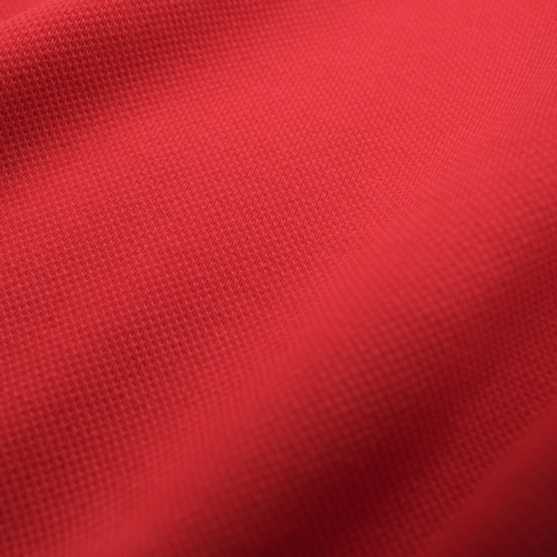 Maille piqué Polo rouge