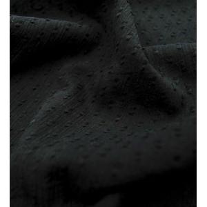Plumetis de coton crepon noir