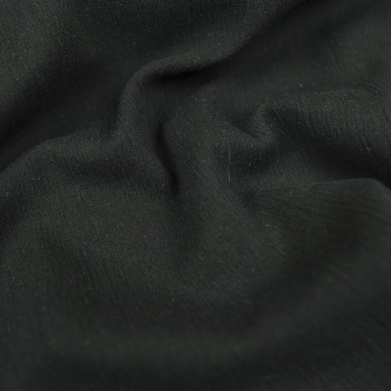Crepon de coton noir