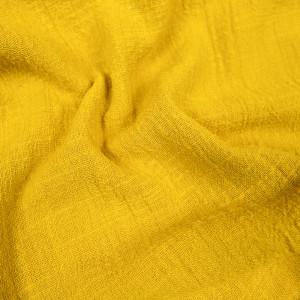Gaze de coton texturée jaune